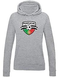 Green Turtle T-Shirts Allez Le Portugal ! Portugal Mondial Football  Sweatshirt Capuche Femme 86935ddb339