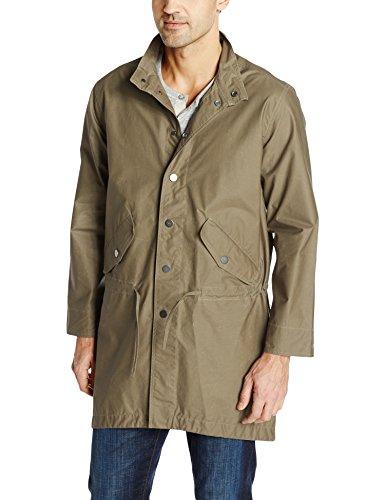 LAMARQUE Herren Fischschwanzmantel Kan, gewachste Baumwolle - Grün - Mittel Nylon Outerwear Jacket