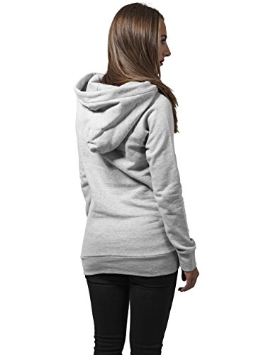 Urban Classics Damen Kapuzenpullover Ladies High Neck Raglan Hoody Grau (grey 111)