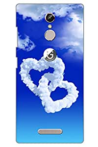 AMAN Love Symbols In Clouds 3D Back Cover for Gionee S6s