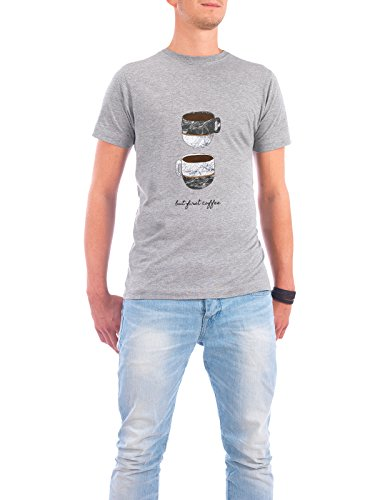 "Design T-Shirt Männer Continental Cotton ""But First Coffee"" - stylisches Shirt Essen & Trinken von Paper Pixel Print Grau"