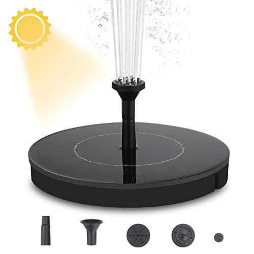 Solar-top (Welltop Solar Springbrunnen, Solar Teichpumpe mit 2.4W Monokristalline,Solar Wasserpumpe Einfache Installation Solar schwimmender Fontäne Pumpe für Gartenteich Oder Springbrunnen Fisch-Behälter)