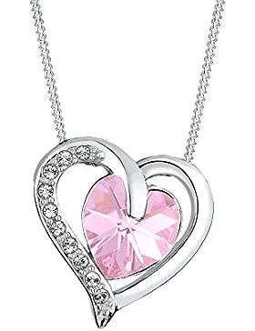 Elli Halskette Herz Love Swarovski Kristalle 925