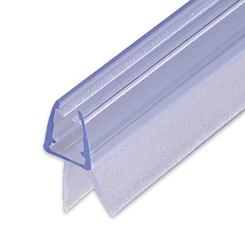 duschdichtung gebogen 100cm Sealis Ersatz Duschdichtung - Dichtung für 5mm/ 6mm/ 7mm/ 8mm Glasdicke Duschkabine Wasserabweiser Duschdichtung Schwallschutz Dichtkeder - Transparent