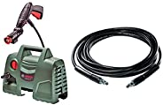 Bosch Aquatak 100 1200-Watt High Pressure Washer (Green) with F016800360 6m High Pressure Hose (Black) Combo