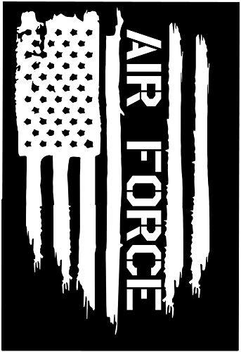 Wandaufkleber Kinderzimmer wandaufkleber 3d Auto aufkleber auto aufkleber amerikanische flagge luftwaffe usa militär flieger gestanzte aufkleber aufkleber 26,5x12,5 cm