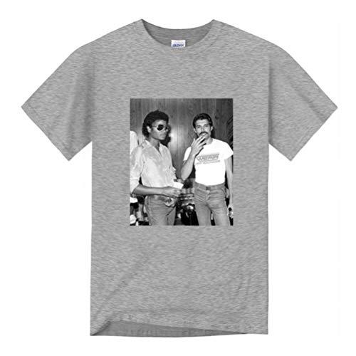 Goodsv Los Hombres de Michael Jackson und Freddie Herrenmode Grafik Sommer Kurzarm Lässige Tees T-Shirt