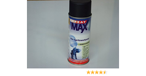 Spray Max 1k Decklack Ral 9005 Tiefschwarz Matt 400ml Auto