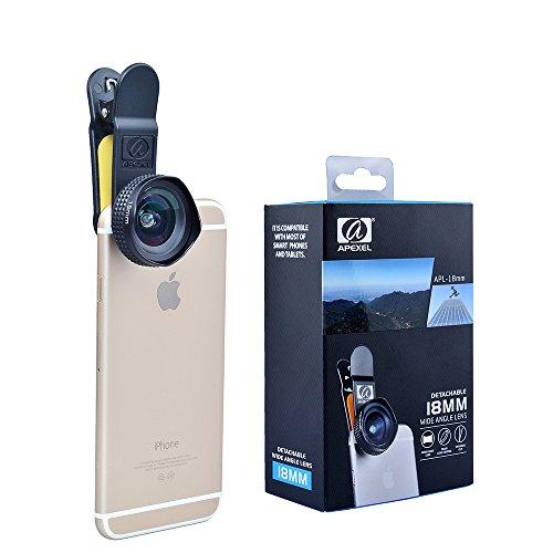 Galleria fotografica Apexel Clip On 18mm Lente Grandangolo per iPhone 6/6S, 6 plus /6s plus, iPhone 5 / 5S, Samsung Galaxy, HTC, Sony Xperia, iPad e Altri Smartphone e Tablets