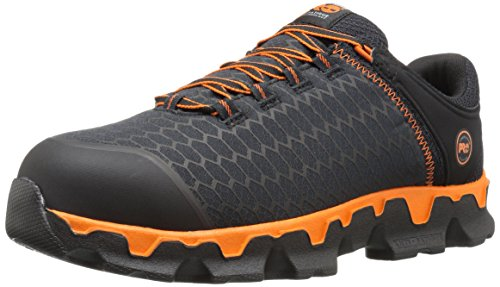 Mens Eh Slip (Timberland PRO Men's Powertrain Sport Alloy Toe Eh Industrial and Construction Shoe, Black Synthetic/Orange, 8.5 W US)