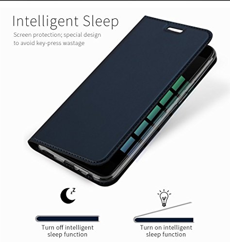 Gear Next For Oneplus 5 Skin Pro Series Magnetic Closure, Sleep Wake Function, flip case cover for Oneplus 5 / One plus 5 / 1+5 (Royal Blue)