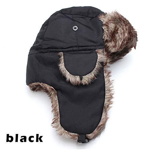 197b10cd593 Alextry Winter Trapper « Aviator » Trooper Earflap cálido Ruso Gorro de  esquí Piel Ushanka Hat
