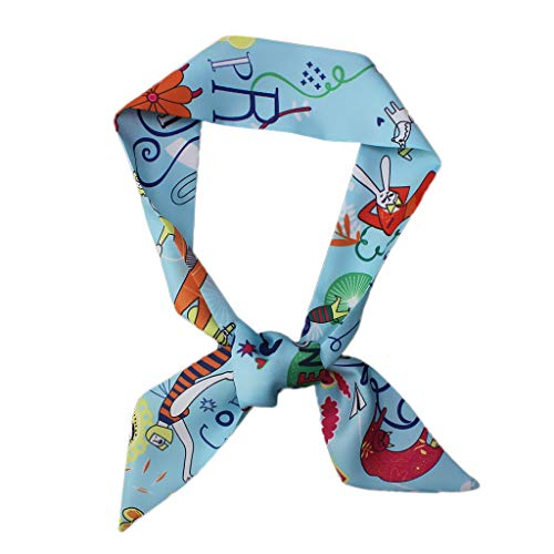 HCFKJ Tasche, Art- und Weisedamen-Band-Beutel-Hut-Stirnband gebundener Griff-kleiner Band-Schal (BU)