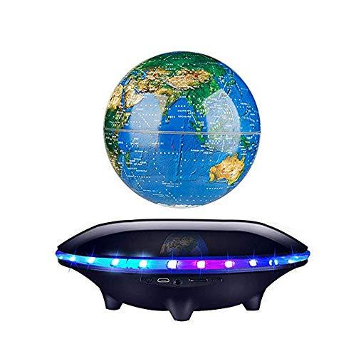 LGF Helmet Globe Sound Magnetic Suspension Lautsprecher Lichtrotation Drahtlose Bluetooth Mini-Handy-Computer-Karte Subwoofer,Black -