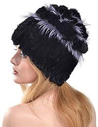 VEMOLLA Cappello Invernale Caldo Super-Elastico Lavorato a Maglia Berretto  più Spesso con Pelliccia di 9804c059bda2
