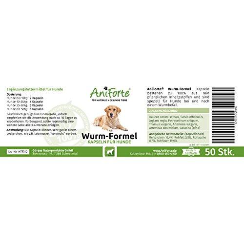 AniForte Wurm-Formel 50 Kapseln- Naturprodukt für Hunde -