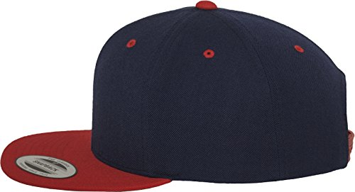Flexfit Classic Snapback 2-Tone Kappe, Mehrfarbig, one size Navy/Red