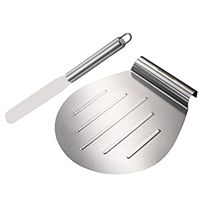 GWHOLE Stainless Steel Cake Lifter and Spatula Palette Knife, 31.5 x 26 cm