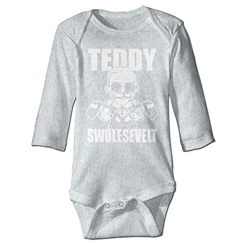 MSGDF Unisex Newborn Bodysuits Teddy Swolesevelt Girls Babysuit Long Sleeve Jumpsuit Sunsuit Outfit Ash Red Long Sleeve Teddy