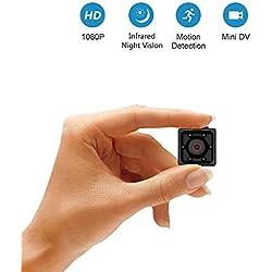 Mini Caméra Espion sans Fil, Supoggy HD 1080P Caméra sécurité avec Vision Nocturne, Détection de Mouvement pour Utiliser à la Maison, en Voiture, par Drone, au Bureau ou à l'Extérieur