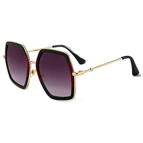 Burenqi@ Luxus Quadrat Sonne Brille Damen Marke Designer übergroße Crystal Sonnenbrille Frauen große Spiegel Farben UV400, G
