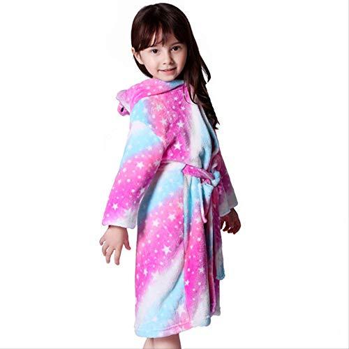 Junge Kinder Bademäntel Flanell Langarm Jungen und Mädchen Tier Handtuch Bade Pyjama Kapuzenbademantel Robe 2019 Babykleidung 4T Sky - 4t-kapuzen-handtuch