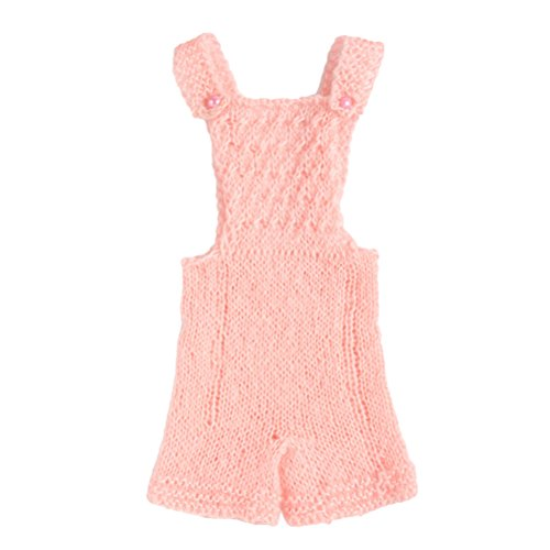 Zhhlaixing Newborn Baby Girls Boys Handmade Crochet Knit Romper Jumpsuit Costume Photo Photography Prop XDT-259 Cotton Knit Romper