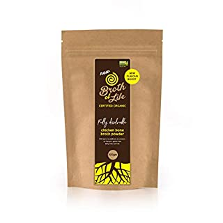Certified Organic Chicken Bone Broth Powder, 100 pure, no additives, no colours, no flavours, gluten free, dairy and nut free - 100 gram Made in Australia
