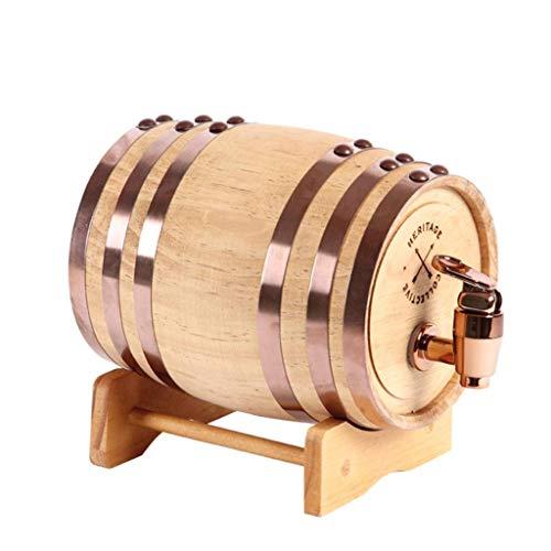 CHENG Fût en chêne, Tonneau de Vin en Bois, Baril à vin Whisky Tonneau de vin pour, fût de chêne, Stockage des spiritueux, liqueurs, bière, vin, Bourbon, Tequila, Rhum (1.5L)
