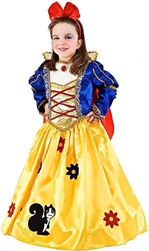 1b7a4d69d2b3 COSTUME di CARNEVALE da PRINCIPESSA DEI BOSCHI LUSSO BABY vestito per  bambina ragazza 1-6