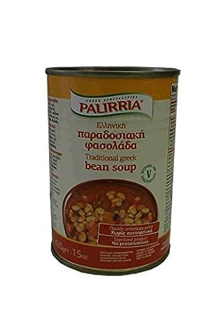 Griechische Bohnensuppe nach traditioneller Art 420g Konserve Bohnen Gemüse Suppe