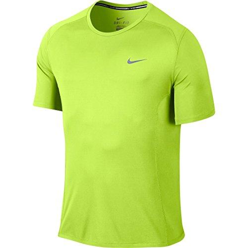 Nike Df Miler Ss, Maglietta Uomo, Giallo (Volt), L