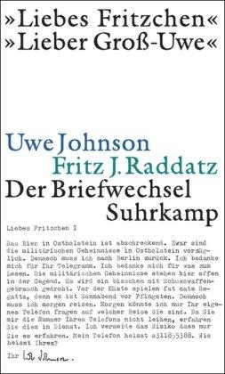 Buchseite und Rezensionen zu '»Liebes Fritzchen« - »Lieber Groß-Uwe«: Der Briefwechsel' von Uwe Johnson