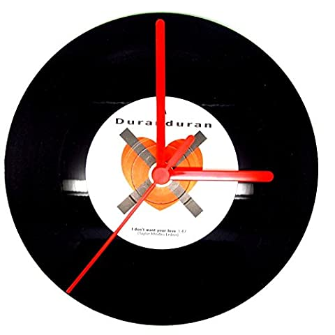 New Vinyl Record Clock Making Kit - Make Your Own Record Clock - 7'' & 12'' (120mm White, 12'' Vinyl (Non Ticking)) by Dans Clock Shop