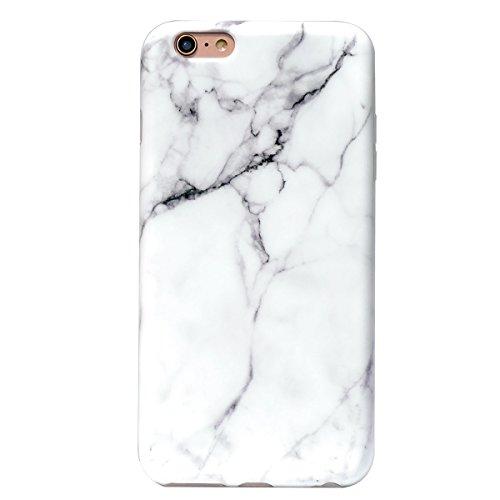iPhone 6S Plus Fall Marmor, yar-ja stoßfest matt TPU weich Gummi Silikon Skin Cover Case für Apple iPhone 6Plus & iPhone 6S Plus [14cm], White Marble ()