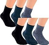Vitasox 21096 Kinder Jungen Mädchen Socken Kindersocken Kindersöckchen Baumwolle einfarbig bunt ohne Naht 6er Pack 23/26
