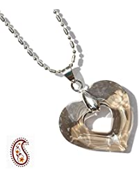 Aapno Rajasthan Crystal Heart Pendant