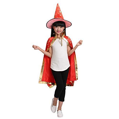 Qlan Childrens' Masquerade Assistent Hexe Umhang Cape Halloween Kostüme ()
