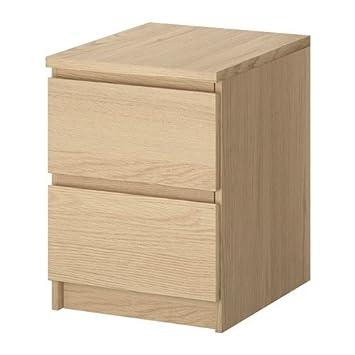 Kommode ikea malm  IKEA Malm Kommode mit 2 Schubladen Eichenfurnier weiss lasiert ...