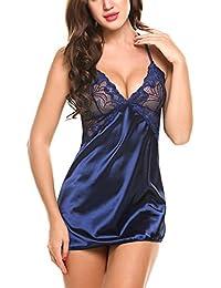 Avidlove Mujer Lencería Sexy Pijamas Camisones Encaje Babydoll con Cordón dd744f0f0609