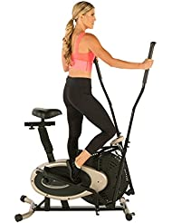 EXERPEUTIC Unisex Adult GOLD Elliptical and Exercise Bike Dual Trainer - Gold, N/A