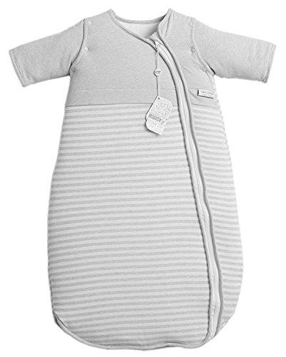 LETTAS Baby Winter Baumwolle Schlafsack Kinderschlafsack mit abnehmbaren Aermeln 6-12 Monate 2.5 TOG