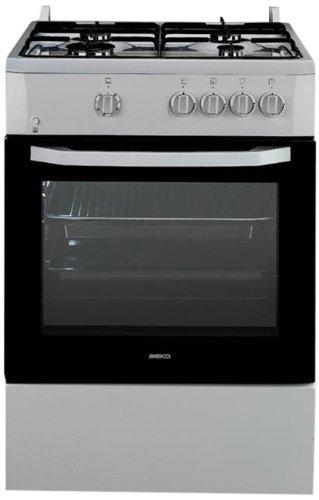 Beko CSG 62000 DXL - Cocina (Independiente, Acero inoxidable, Botones, Giratorio, 65L, Gas natural, propano/butano,