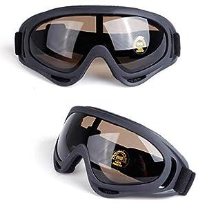 Gfone Ski Brille Snowboard Motorrad Brille Radfahren Brille Berg Brille UV400 Schutz Unisex Windschutzscheibe Reinigung 18 x 8 cm