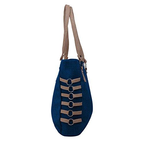 Alice Designer khadi style ladies handbag Blue(NKS-509-GUN)