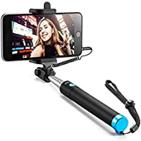 SHAPING HUB Selfie Stick for Mobile Phone for clicking Photos & Making Video with Attached AUX Cable | for iPhone and…