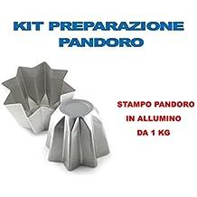 STAMPO PANDORO ARTIGIANALE NATALE - KIT N°3 CDC (1 STAMPO PANDORO DA 1 KG )