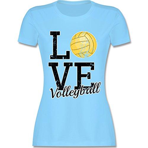 Shirtracer Volleyball - Love Volleyball - Damen T-Shirt Rundhals Hellblau