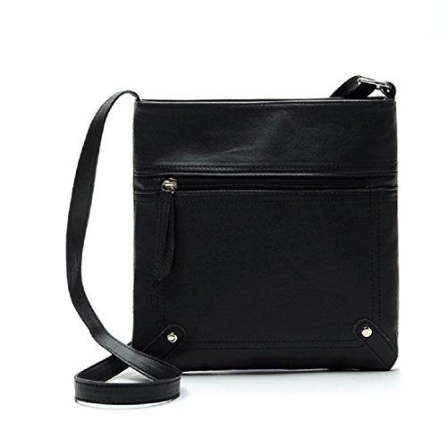 Sammlung Mode Hobo (Handtaschen -Tasche,WINWINTOM SDamenledertasche Umhängetasche Schulter Messenger Bag Handtasche (Schwarz))