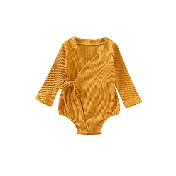 Conjuntos de Mameluco para niños de Halloween Bebé recién Nacido bebé niños niñas Manga Larga sólido Kimono Mameluco… 3